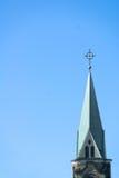 Church Steeple. A lone church steeple against a beautiful blue sky Royalty Free Stock Photo