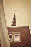 Church Steeple. Against a cloudy winter sky Stock Photo