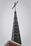 Church Steeple. Against a cloudy winter sky Royalty Free Stock Images