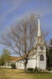 Church with steeple. Small cute white church in Carson City,  Nevada with steeple Royalty Free Stock Images