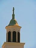 Church steeple. Cross against light blue sky Royalty Free Stock Image