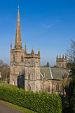 Church and steeple. Church with large steeple from co.down north ireland Royalty Free Stock Photography