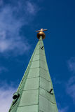 Church steeple. Against a blue sky Stock Images