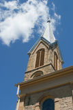 Church Steeple Against the Sky Royalty Free Stock Photography