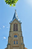 Church Steeple Against the Sky Stock Photo