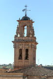 Church steeple of Almansa. On a sunny day, is a picture vertical Royalty Free Stock Photo