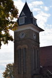 Church steeple and belltower, Ligonier PA Stock Image