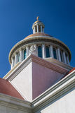 Church steeple on bule  isolated Stock Images