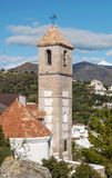 Church steeple of Casares Stock Photo