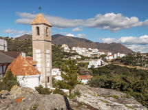 Church steeple of Casares Stock Photography