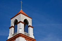 Church Steeple Cross and Blue Sky Stock Photos