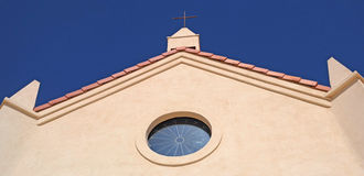 Church Steeple and Cross Royalty Free Stock Photo