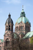 Church steeple. A famous church steeple in munich,germany Stock Images