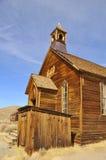 Church Steeple in Ghost Town. Vintage Church with Steeple in Bodie Ghost Town, California Stock Photography