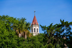 Church Steeple. Historic church steeple in old St. Augustine, Florida Royalty Free Stock Photo