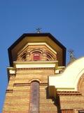 Church steeple. Steeple of Orthodox Christian church in Bucharest Stock Photos