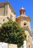 Church steeple in Osuna, Andalusia, Spain Royalty Free Stock Photography