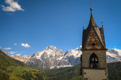 Church and steeple, Tyrolean region of Italy Royalty Free Stock Photography