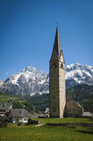 Church and steeple, Tyrolean region of Italy Stock Image