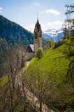 Church and steeple, Tyrolean region of Italy Royalty Free Stock Photo