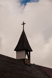 Church Steeple. View of top of church showing steeple Stock Image