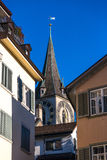 Church Steeple in Zurich. Iconic church steeple in Zurich, Switzerland Stock Photography