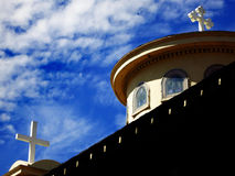 Church Steeples of Crosses Royalty Free Stock Images