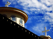 Church Steeples of Crosses Royalty Free Stock Photos
