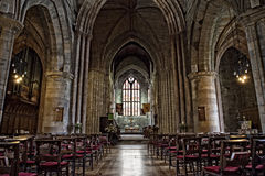 Church in Stirling. Religion Church in Stirling, Scotland - interier Stock Photo