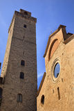 Church Stone Tower San Gimignano Tuscany Italy Stock Images