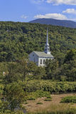 Church in Stowe Vermont. A classic New England white church and steeple in Stowe, Vermont Royalty Free Stock Photo