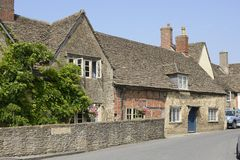 Church Street in Lacock. Wiltshire. England Royalty Free Stock Photography