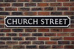 Church Street Sign Royalty Free Stock Images