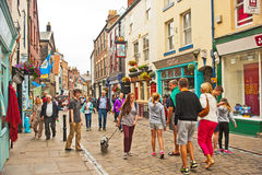 Church Street Whitby Royalty Free Stock Images
