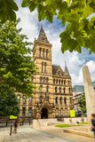 Church in the streets of Manchester. Royalty Free Stock Photo