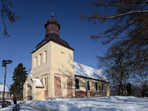 Church of Sts. Jacob in Oliwa. Church built in the early fourteenth century in Oliwa, Poland Royalty Free Stock Images