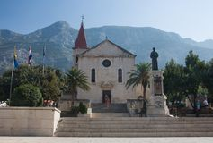 Church of Sts. Mark. Makarska. Croatia Stock Photos