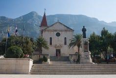 Church of Sts. Mark. Makarska. Croatia Stock Photos
