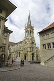 Church of Sts. Peter and Paul in Bern. Bern, Switzerland - April 17, 2017: Church of Sts. Peter and Paul is a Christian Catholic church that can be seen among Stock Photography