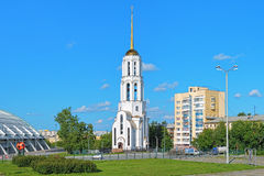 Church of Sts. Sergius of Radonezh and Yelizaveta in Yekaterrinburg Stock Photography