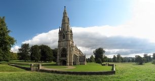 Church in Studley Royal park Royalty Free Stock Photography