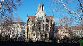 Church Stuttgart Germany royalty free stock photos