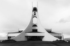 The church in Stykkisholmur, Iceland Royalty Free Stock Photos