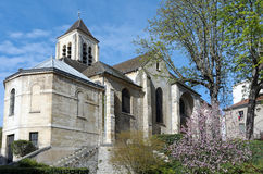 Church in suburb of Paris Royalty Free Stock Photography