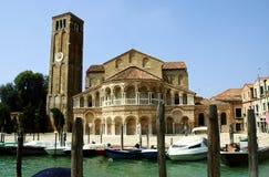 Church in suburb of Venice. Stock Photo