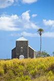 Church in sugarcane field Royalty Free Stock Image