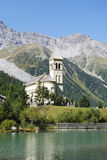 Church in Sulden. (Soldo), a town in the Vinschgau (South Tyrol, Italy Stock Photography