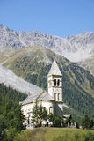 Church in Sulden. (Soldo), a town in the Vinschgau (South Tyrol, Italy Royalty Free Stock Image