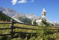 Church in Sulden. (Soldo), a town in the Vinschgau (South Tyrol, Italy Royalty Free Stock Photo