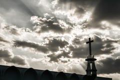 Church with Sun beam Stock Image